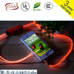 el charger cable led light 80cm 90cm blue green pink colours luminescenst charger cable with bright running light micro usb