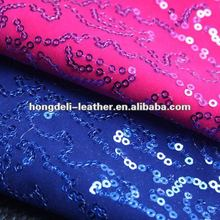 velvet base sequin fabric glitter fabric raw material for shoes bag material