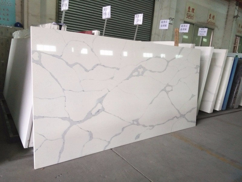 Calacatta white artificial quartz stone slab price