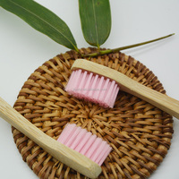 Natural biodegradable bamboo toothbrush, hand-made, wooden toothbrush, factory direct sale