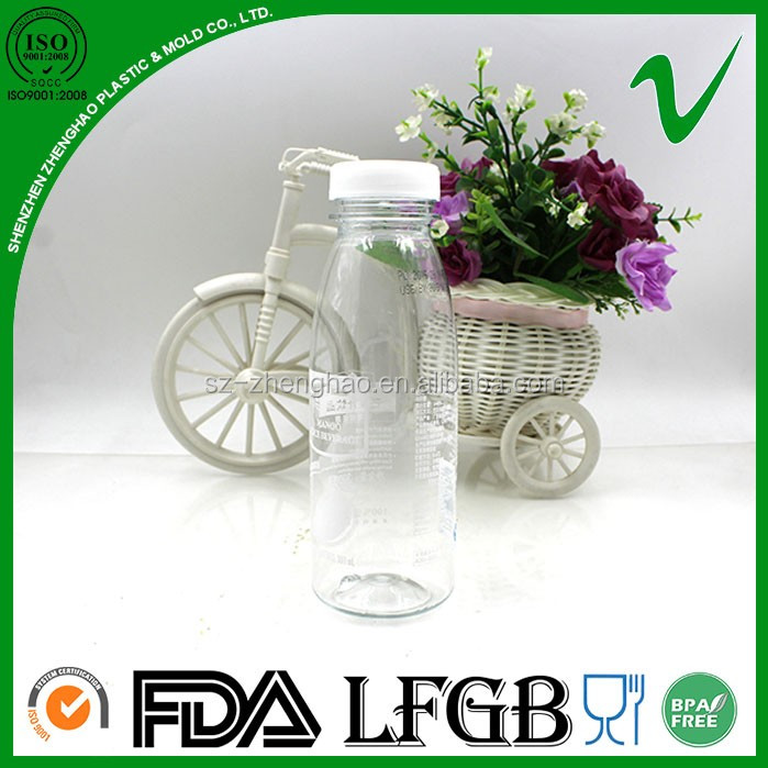 300ml custom made PET plastic milk bottles wholesale with high quality