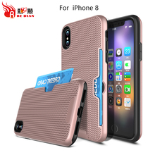 sliding cover mobile phone shell for iphone 8,rugged armor phone case for iphone 8 case sliding card holder