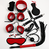 Hot Selling PU Leather 10Pcs Restraint Kit High Qulaity Bondage Set in Adult Sex Toys
