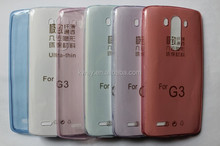0.3MM Ultra Thin Slim Transparent soft TPU cover case For LG G3