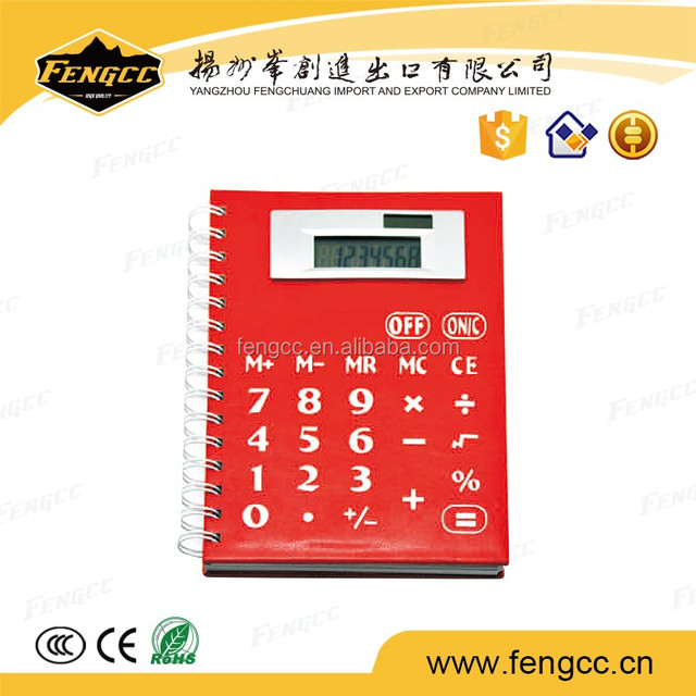 alibaba factory supply promotional Office Supply leather notebook calculator