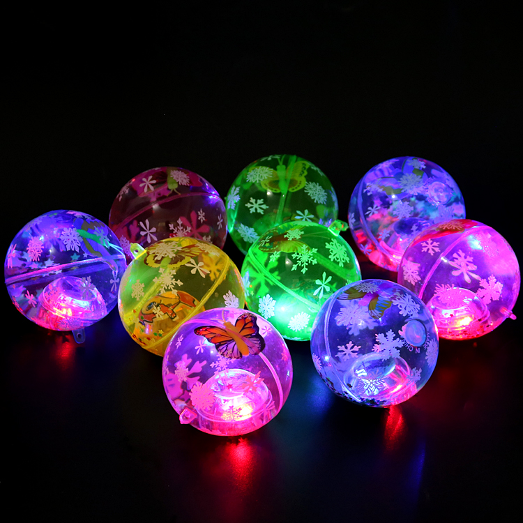 LED flasing light kids toy. 65mm high quality bouncing ball.