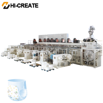 Full Frequency Motor Used Diaper Machine