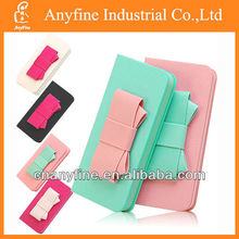 Lovely Bow Bowknot PU Leather Wallet Card Holder Flip Case for iPhone 5/5S