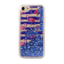 Flamingo Glitter Stars Liquid Quicksand Cell Phone Case Cover For IPhone 6 6S 7 8
