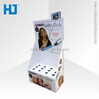 Selfie Stick Paper Display Box In CVS Promotion Selfie Stick Display box,Counter top Display box
