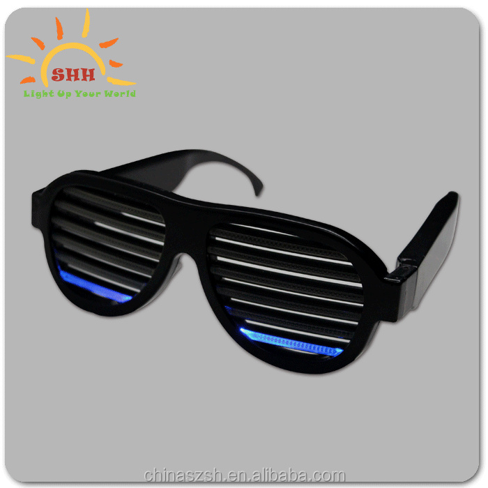 Novelties Sound Activated 2017 LED Glasses, Custom Shutter Sunglasses