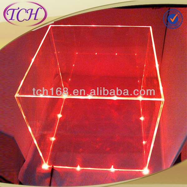 Clear acrylic storage box and LED light display boxes