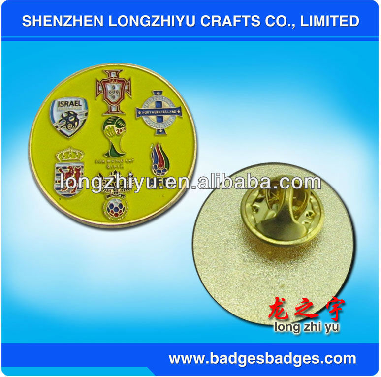 2013 Custom Metal Enamel Sports Meet Badges,Printing Lapel Pin With High Quality
