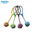 Wholesale Pet Dog Braided Twisted Cotton Rope Chew Double Knots Toys