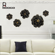 ROOGO Wall art tapestry hanging 3d resin relief painting for black peony