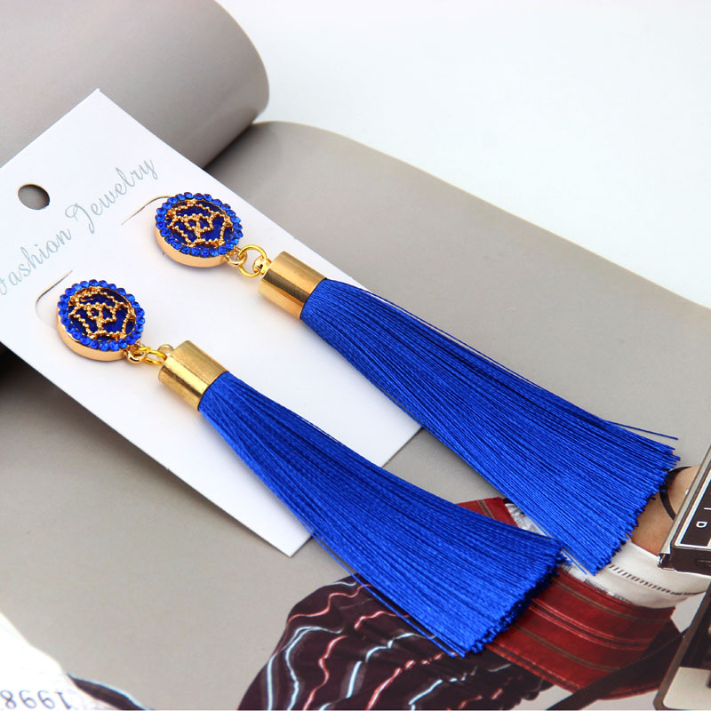 YWMT-0068 Wholesale custom women fashion elegant rose flower tassel <strong>earrings</strong>