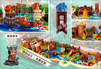 Tribal warrior theme park indoor playground for children