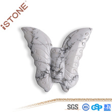 Istone New Howlite Butterfly Figurine Natural Gemstones And Semi Precious Stones Carved For Feng Shui Healing Reiki