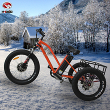 500w motor fat tire mountain ebike electric beach motorcycle with rear double disk brake