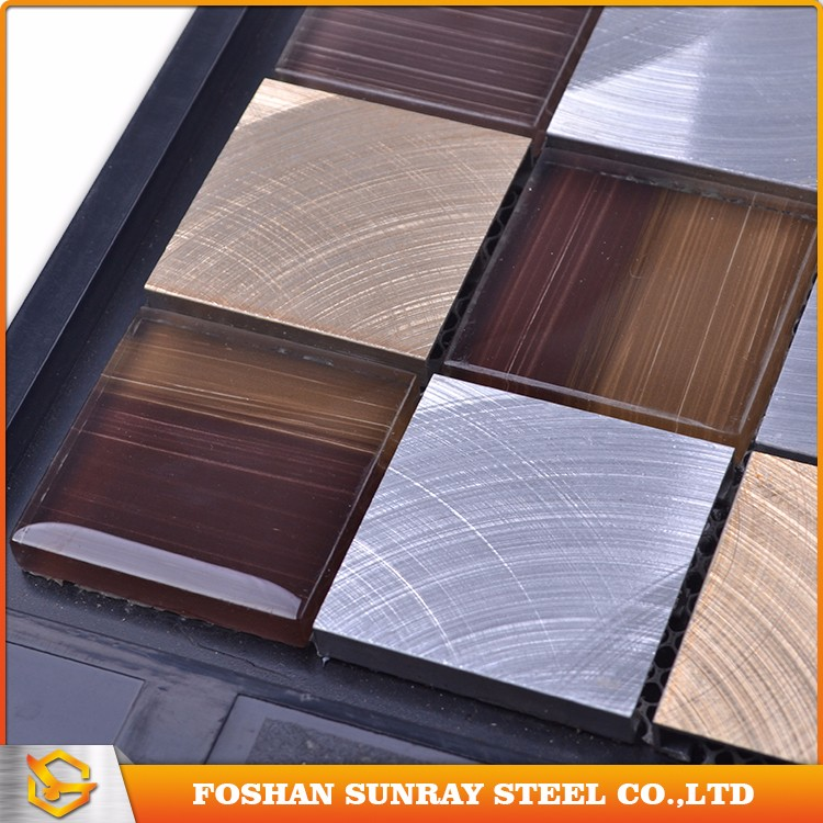 Stainless steel metal tiles mosaic good quality