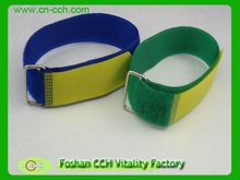 plastic buckle hook and loop strap