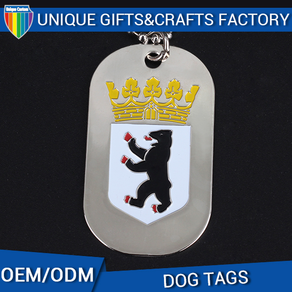 2016 China Modern Souvenir high polished dog tag