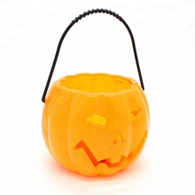 High Quality Halloween Led Lighting Pumpkin bucket for kids