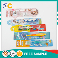 new design handle soft bristle children and baby toothbrush