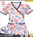 Wholesale Nurse Scrubs Designer Medical Scrubs All Over Printed
