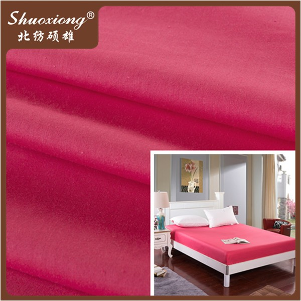 110*90 40 yarn dyed poly cotton fabric high quality bedsheet fabric