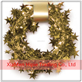 Hot sale Metallic PVC Gold Star Gift Wrapping Wired Tinsel Garlands