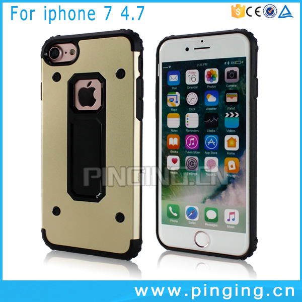 Free mobile phone case 2017 new product tpu pc back cover for iphone 7 i7 shock proof case