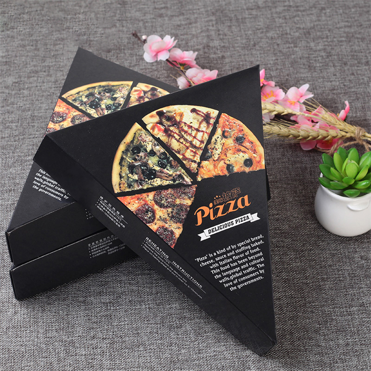 Custom printed triangle pizza box for packaging