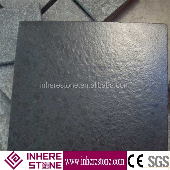 G684 black leather granite tile