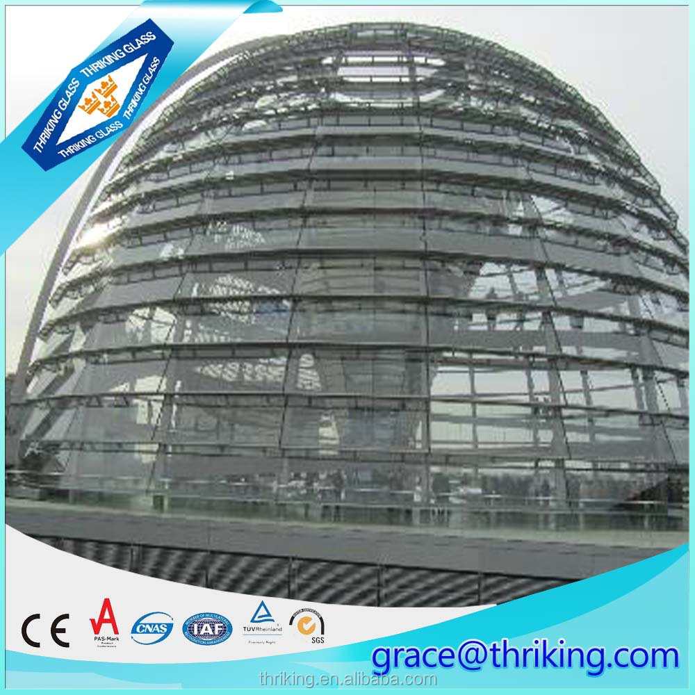 2016 new decorative safety building glass dome with ce&ccc