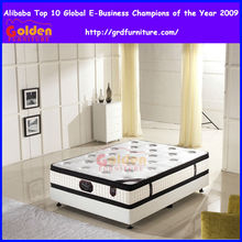 Natural latex double pillow top mattress talalay latex mattress