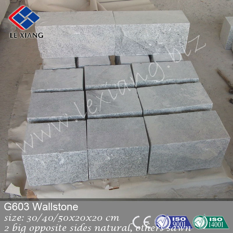 Ourtside wall light color granite