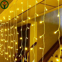 3m(L)*3m(H) 900L Cheap decorative led curtain light , window curtain string light , wedding fairy light curtain