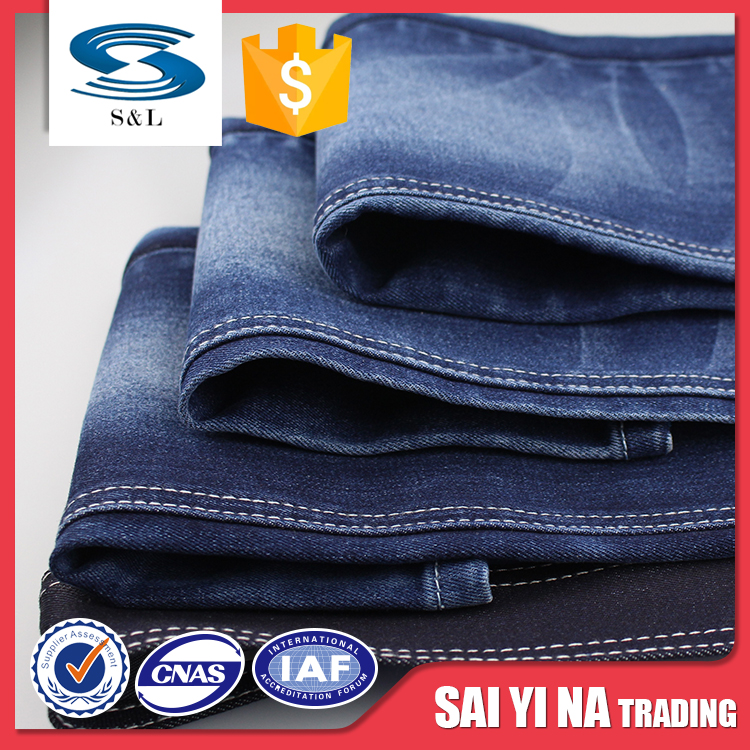 Organic cotton wholesale polyster denim jeans fabric textile