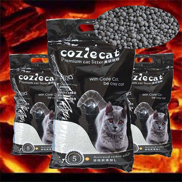 Bentonite Activated Carbon Cat Litter No Messy Urine Immediate Odor Control Scentless Dust Free Ultra Low Dust Multiple Cats Own