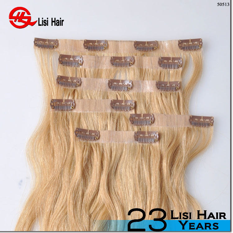 2015 New Style Fasion Beautiful Popular 100% Human Factory clip in remy hair extension italian curl
