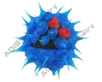 silicon piercing loose replacement balls with different images
