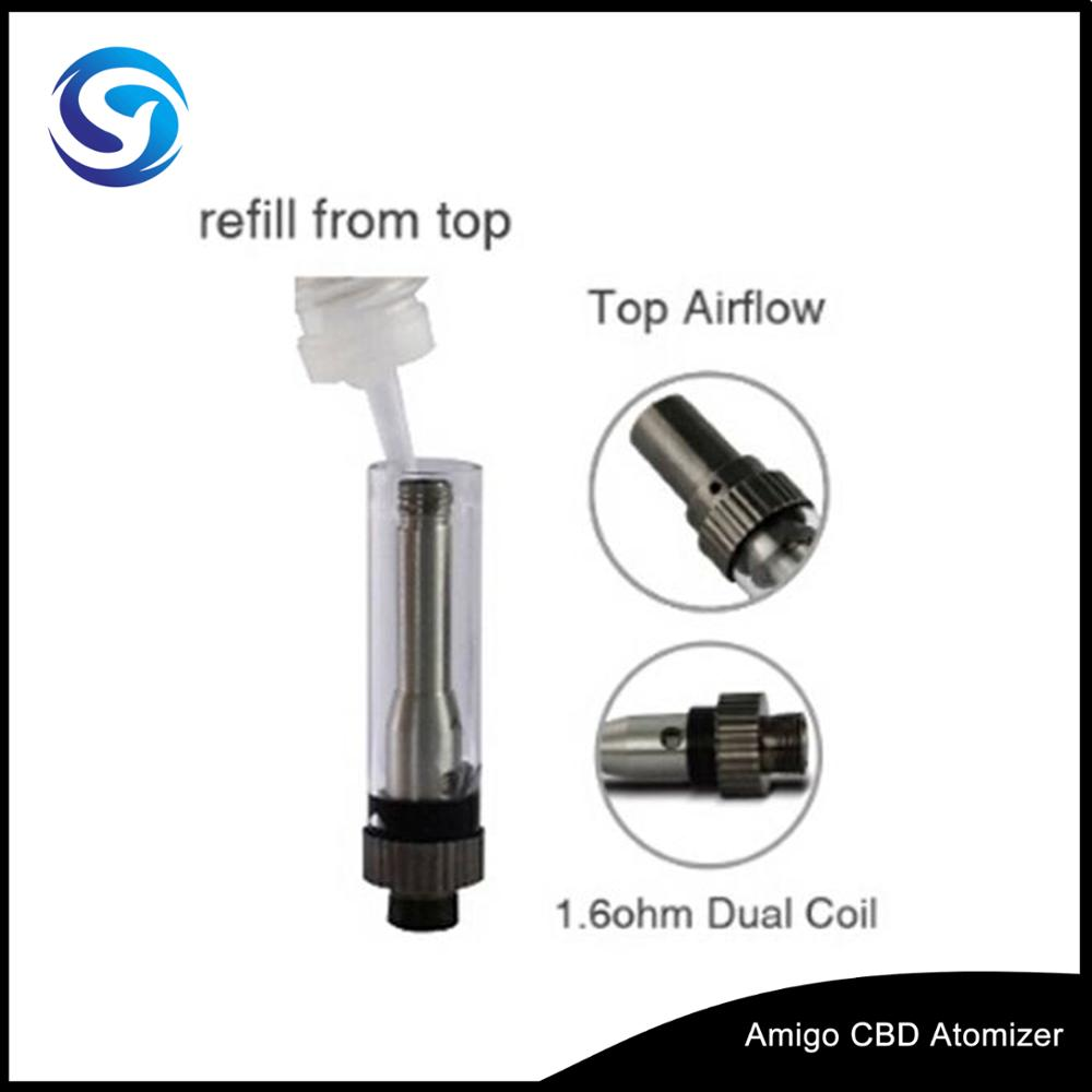 510/ego Thread Amigo CBD TANK with adjustable oil hole most popular size/0.5ml Glass Cartridge Wholesale electronic-cigarette