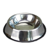 Stainless steel dog pet food storage containers with non-slip silicone base