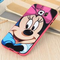 Cute Cartoon Minnie Mouse TPU Case Cover For Samsung Galaxy S6 G9200 S5 5 note 4 3 5 Silicone Back Cover