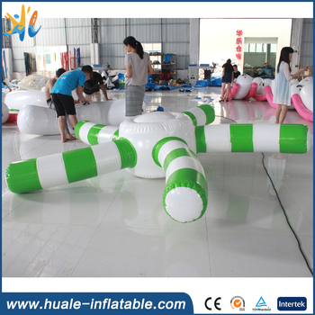 2017 inflatable floating starfish disc water games for adults