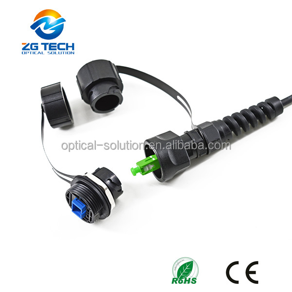 CPRI Standard ODVA RRU BBU waterproof Patch Cord with Compact BBU/RRU Helix Cover duplex SC/APC Connectors