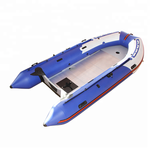 New Product Blue Color 4.3m PVC Inflatable Rowing Boat For Sale