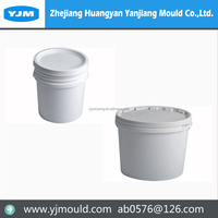 Plastic paint bucket injection molds making