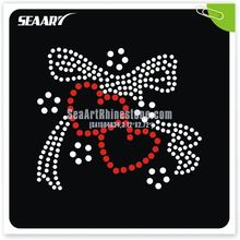 rhinestone hot fix transfer butterfly bow motif